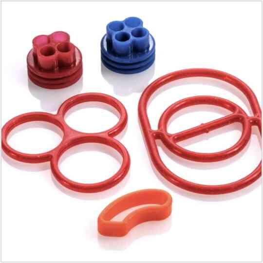 Liquid silicone rubber seals